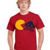 GRcade Pac & Invader Emblem T-Shirt (Cardinal Red)