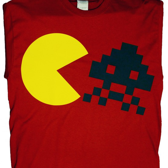 Pac and Invader T-Shirt (Red)