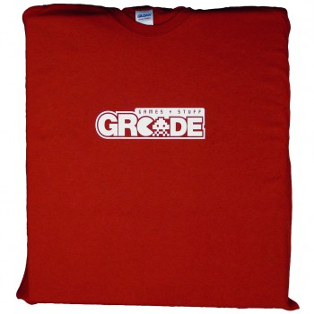 GRcade Logo T-Shirt (White On Red)