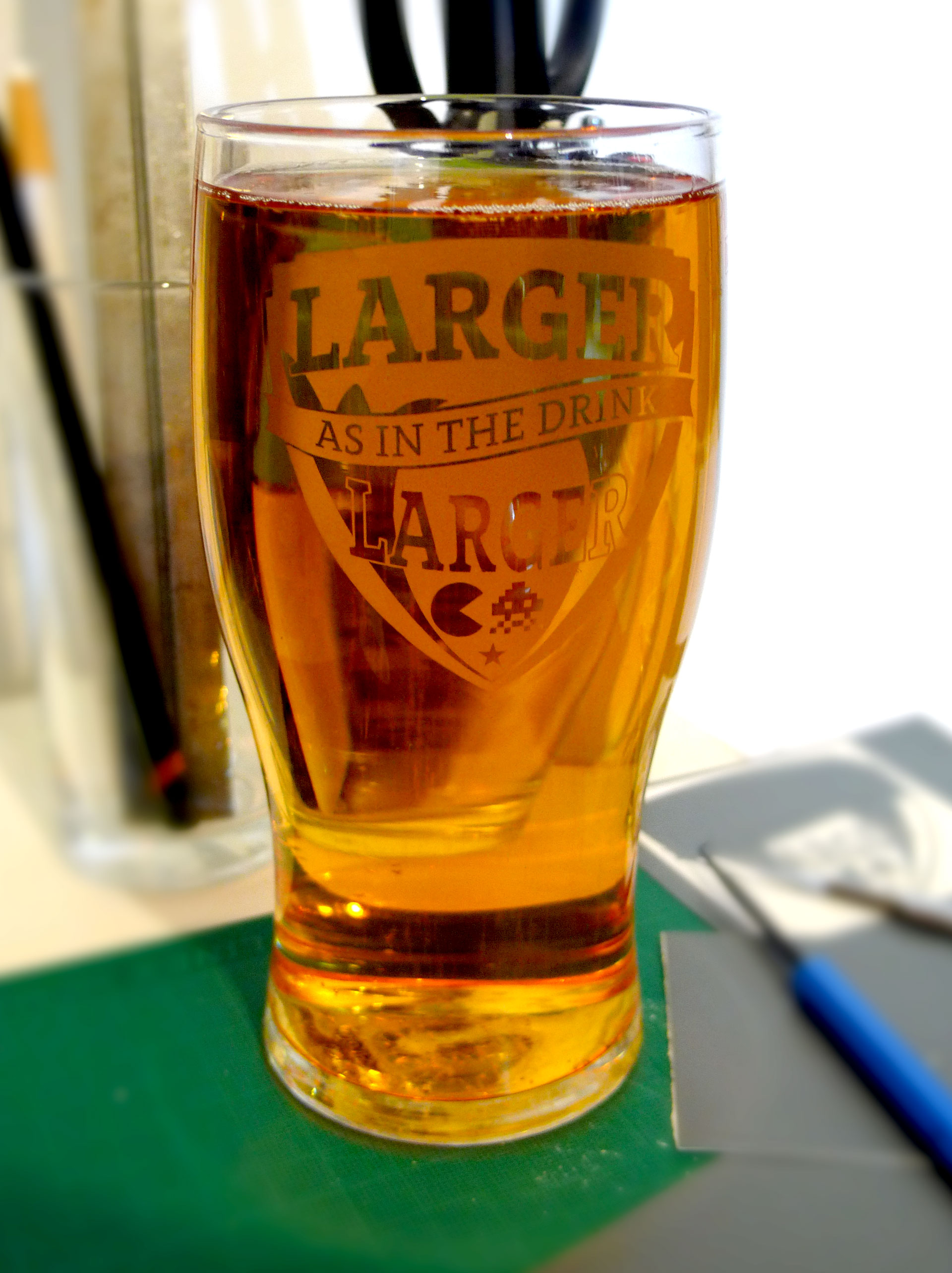 Larger As In The Drink Larger Pint Glass Grcade Shop
